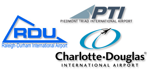 RDU Airport Shuttle, CLT, PTI Airport Transportation - Call Today!