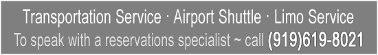 Transportation Service - Airport Shuttle - Limo Service - Call Today!